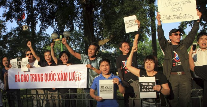 Anti-China protest in Hanoi, Vietnam