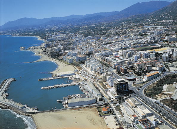 Ariel view of Marbella, Spain