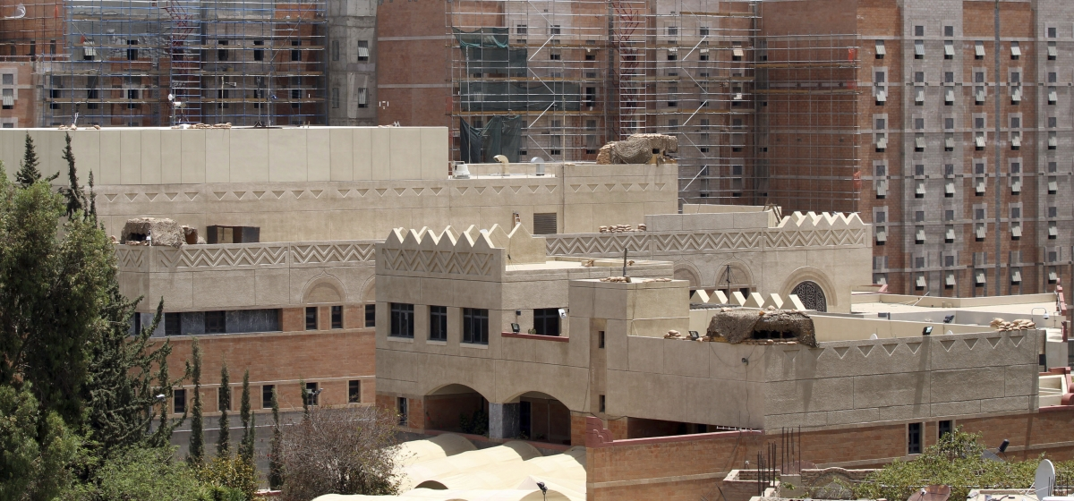 The US embassy compound in Sanaa.