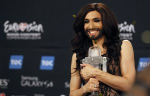 Austria's bearded lady Conchita Wurst wins Eurovision 2014