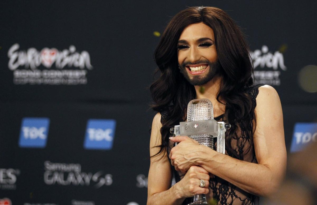 Austria's bearded lady Conchita Wurst wins Eurovision 2014