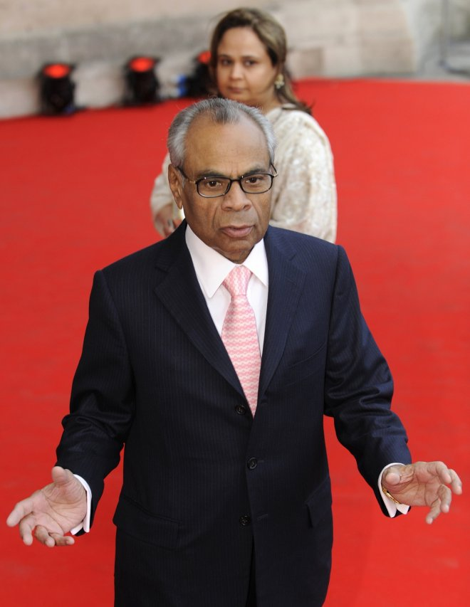 Srichand Hinduja arrives at an exhibition oepning in London in 2010. With his brother Gopichand, he topped the 2014 Sunday Times rich list.