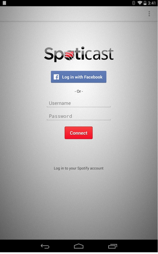 Spoticast app