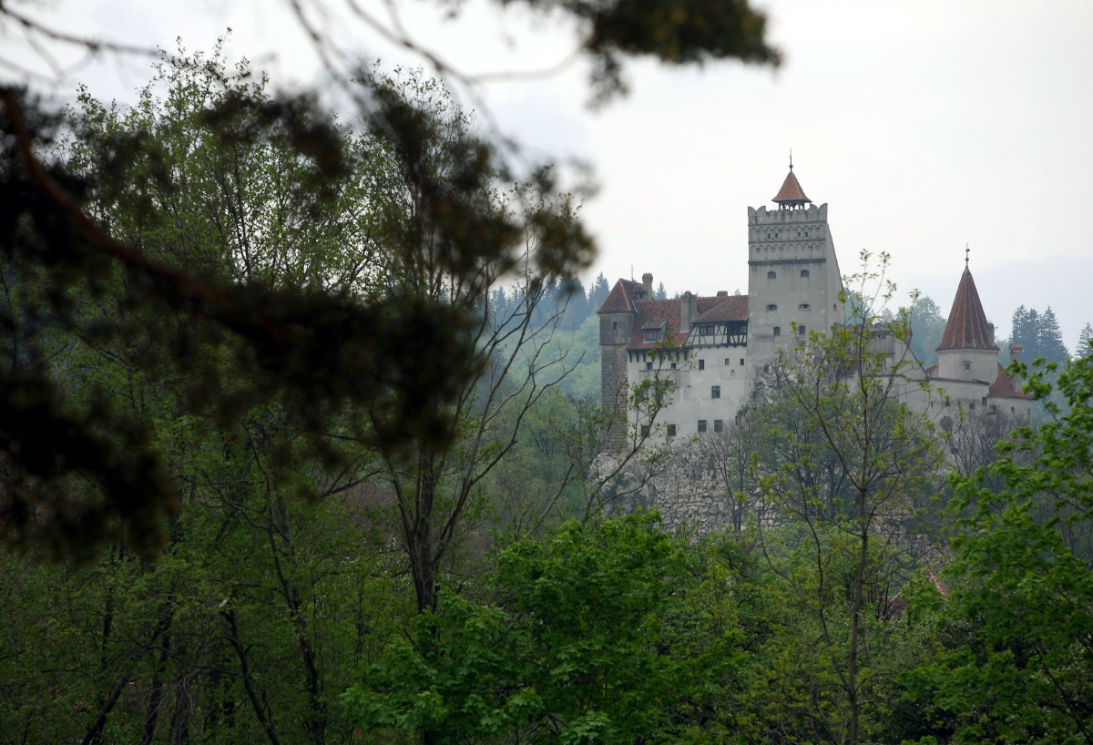 Bran Castle in Romania's Carpathian Mountains.