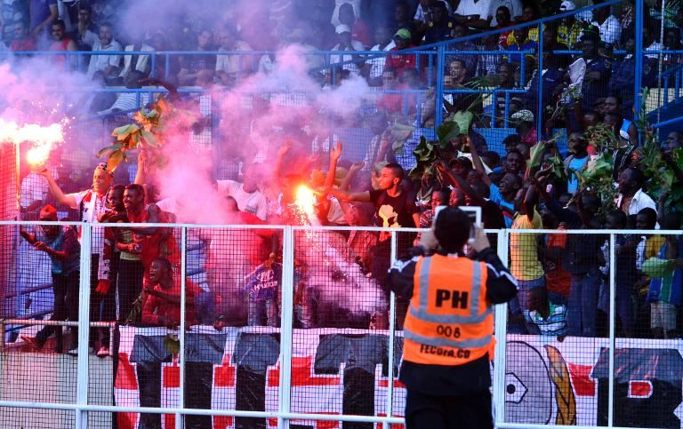 Riots at football match in Congo