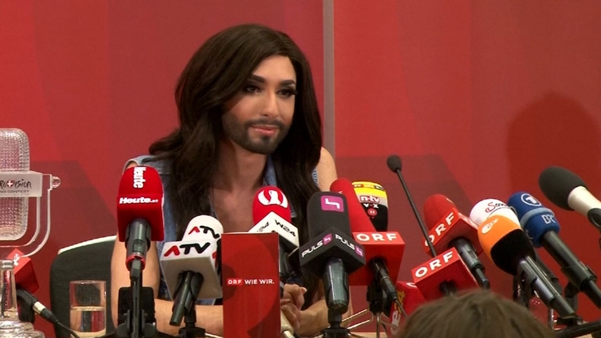 Conchita wurst and dana international in eurovision first star - How The Eurovision Song Contest Became An Unstoppable Celebration Of Lgbt Culture