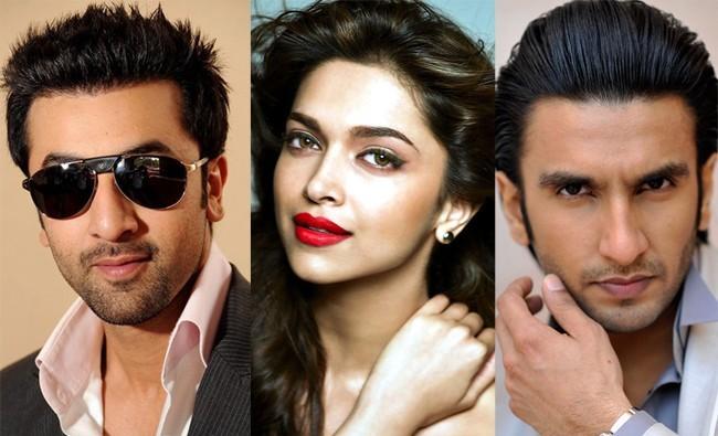 Ranbir Kapoor, Deepika Padukone and Ranveer Singh