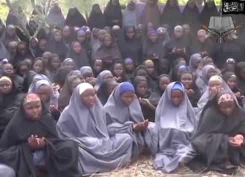 Boko Haram Video showing the captured schoolgirls.
