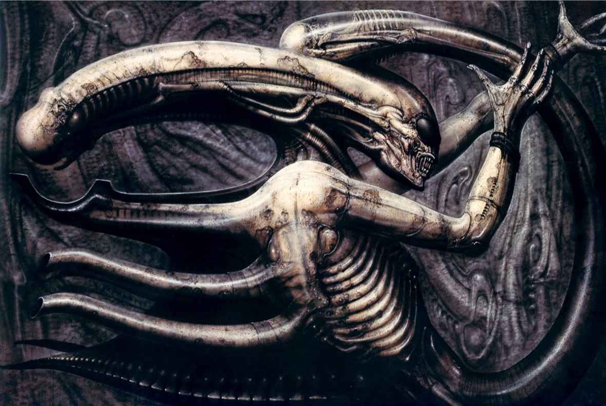 HR Giger The Necronom IV, inspiration for the Alien