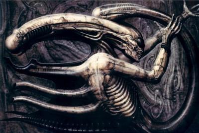 HR Giger The Necronom IV, inspiration for the Alien