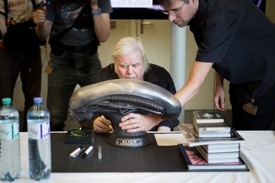 Book signing with HR Giger