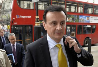 Pascal Soriot, CEO of AstraZeneca PLC arrives at Portcullis House to attend a parliamentary business and enterprise committee hearing on the future of AstraZeneca