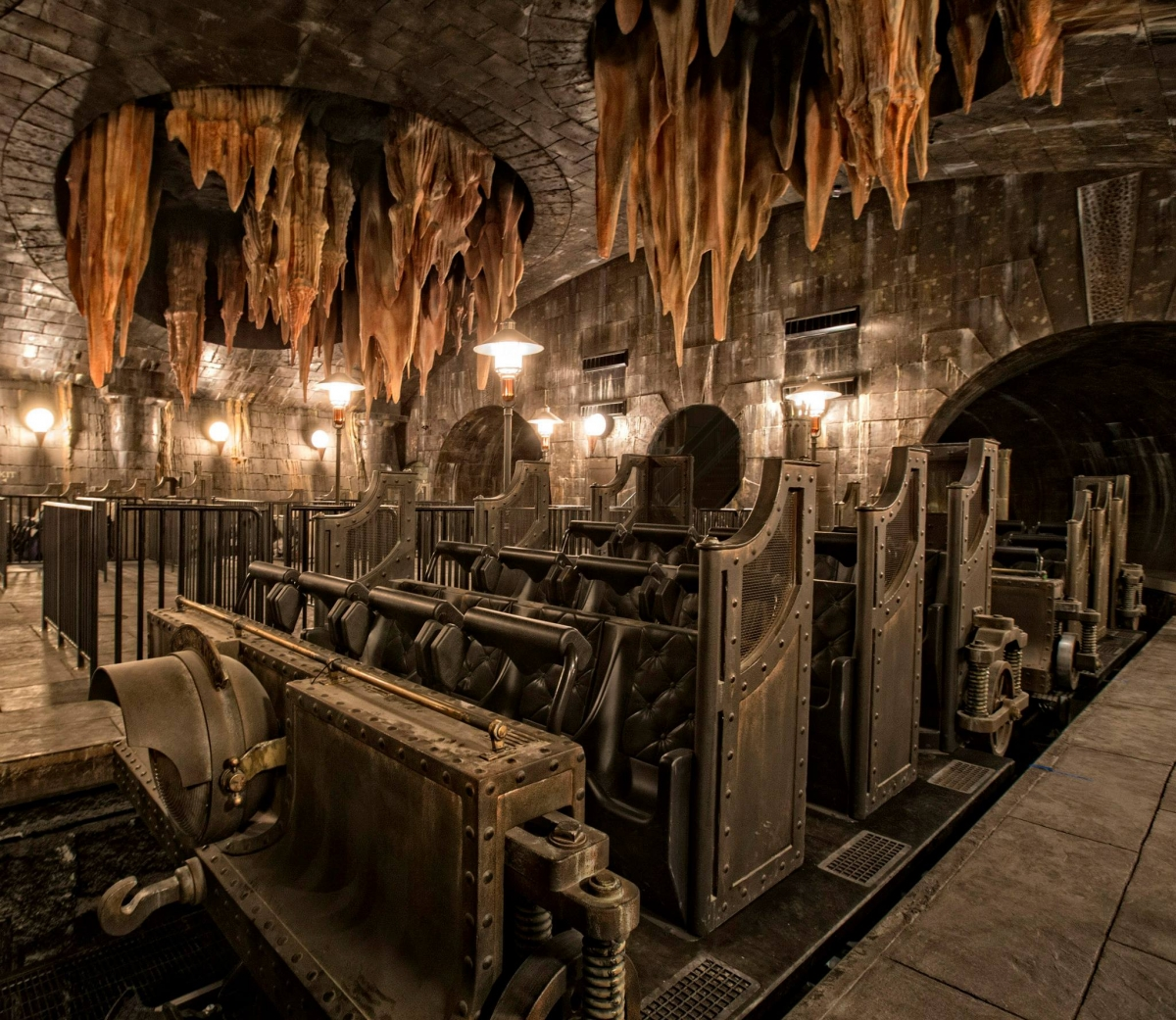 Fans will get to experience the exhilaration of travelling in a Gringotts mine cart to the bank vaults