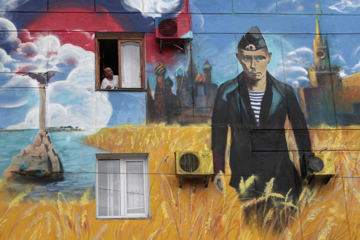 Putin graffiti Sevastapol