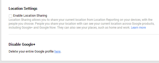 Delete yourself from Google services