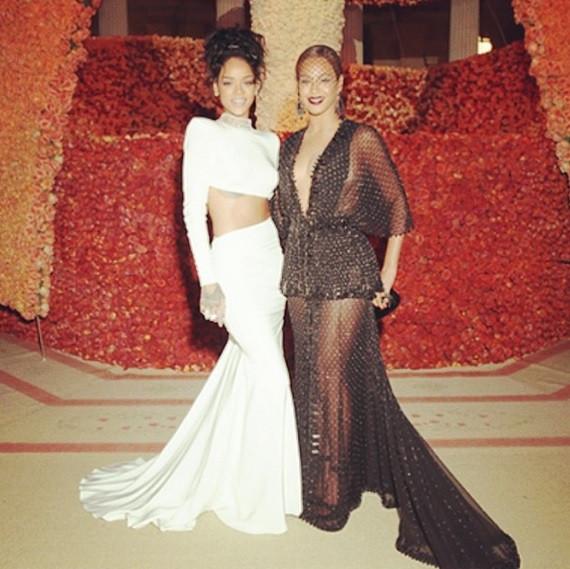 Beyonce and Rihanna