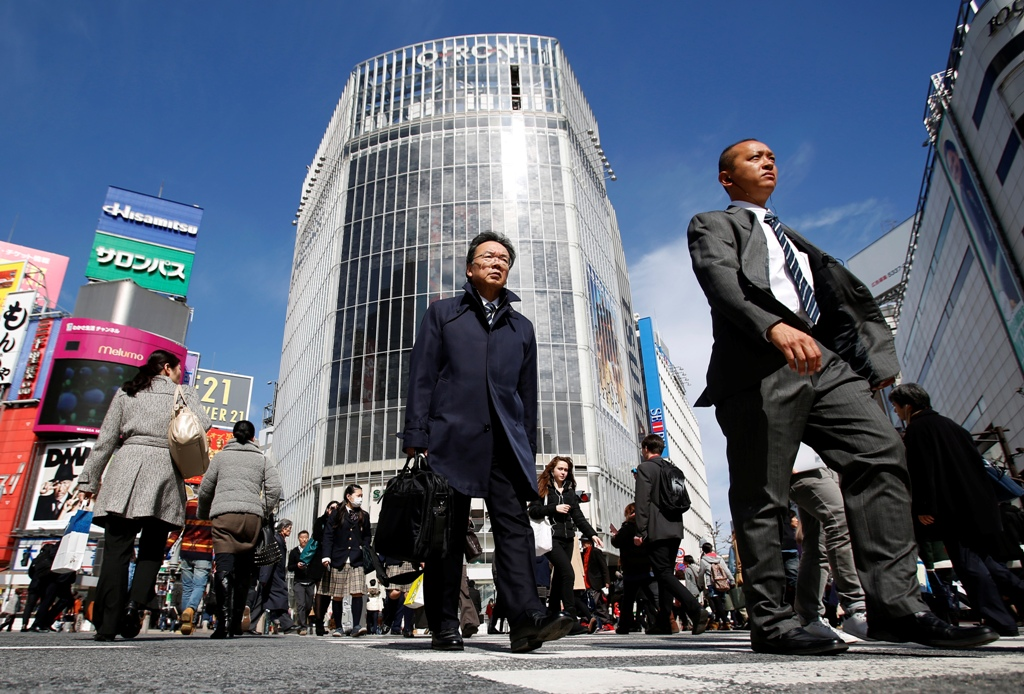 Japan's first-quarter growth at over two-year high.