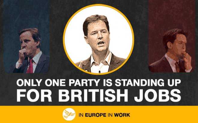 Liberal Democrat EU election slogan