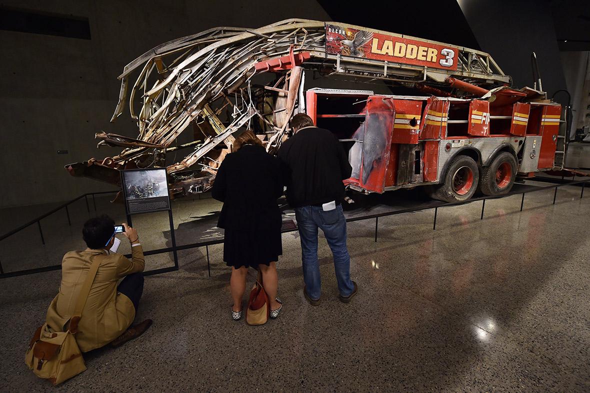 world trade center museum fire truck