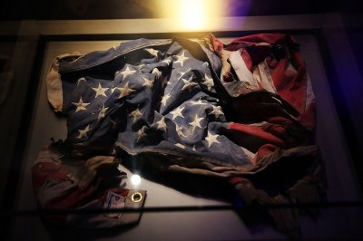 An American Flag recovered from the World Trade Center site