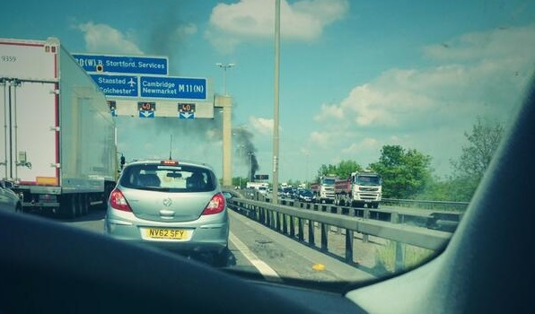 Crash on M11 between junctions 7 and 8 caused gridlock on Thursday afternoon