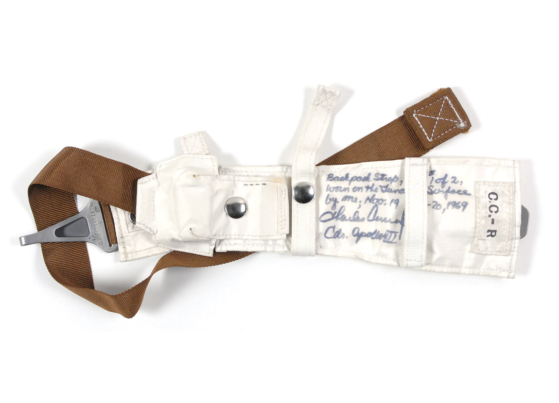 Backpack strap from Charles Conrad's Personal Life Support System on Apollo 12