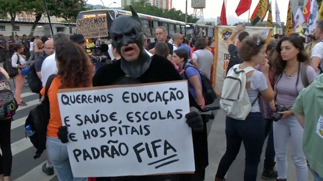 World Cup Protests Kick Off in Brazil