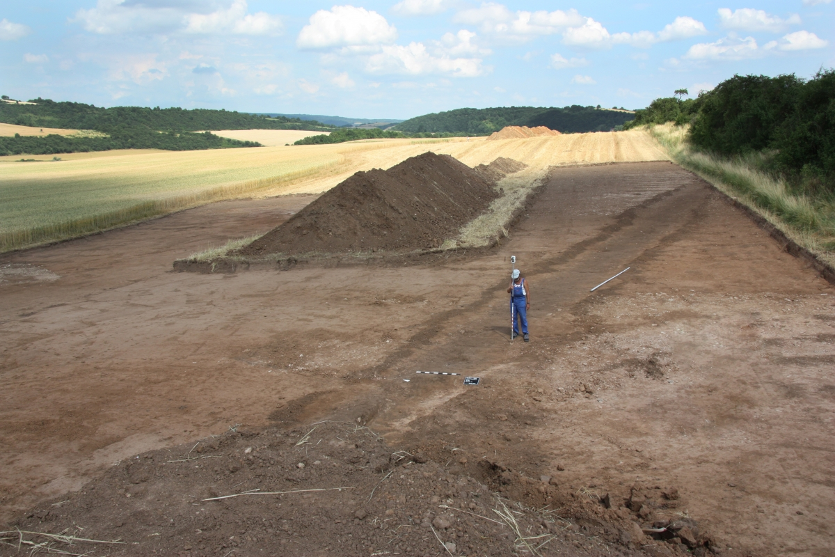 German archaeologists have discovered a Roman military camp in Hachelbich in Thuringia