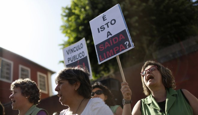 portugal bailout protest