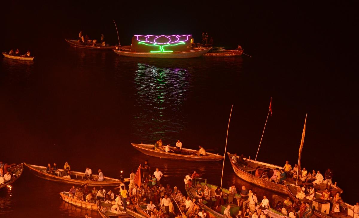 BJP Modi India Victory elections 2014 vote Varanasi Ganges