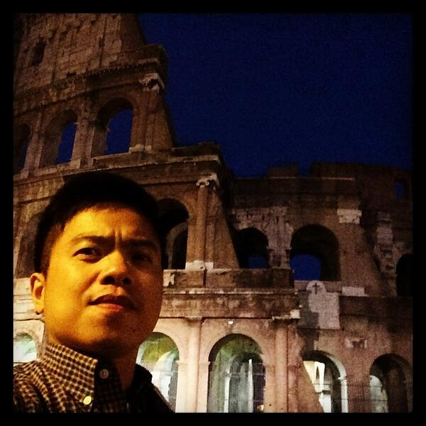 The Colosseum in Rome is the most popular location for selfies