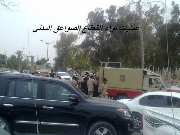 This image reportedly shows members of Libya's GNC being arrested by military in Tripoli