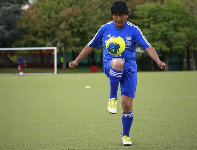 Bolivia President Evo Morales will take time out from running the country to play for Sport Boys