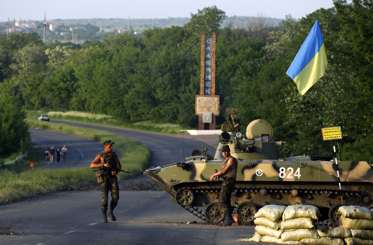 Ukraine soldiers Slavyansk