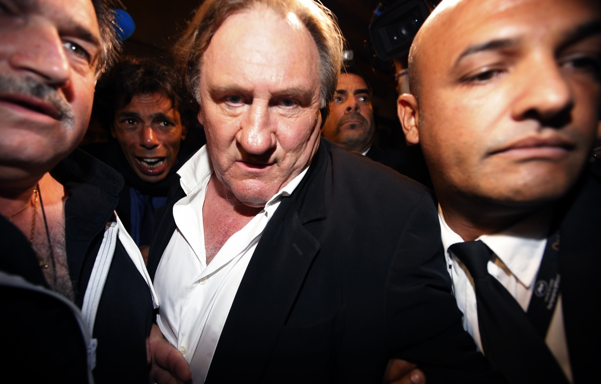 Dominique Strauss-Kahn Gerard Depardieu Cannes Welcome to New York