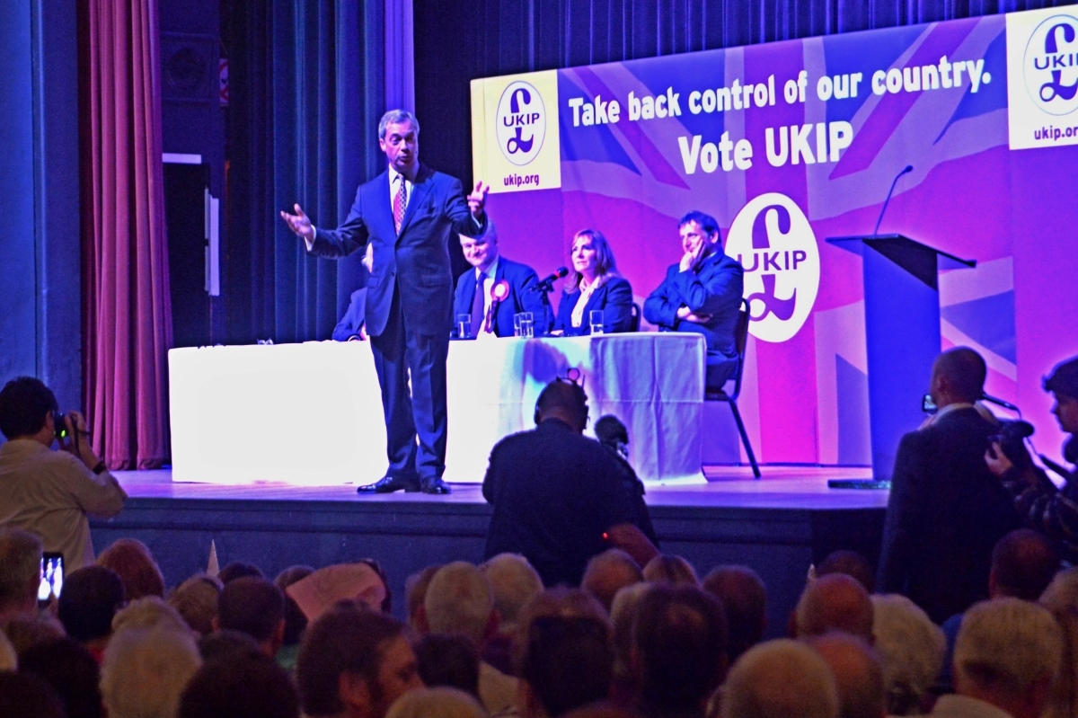 Nigel Farage at Margate rally