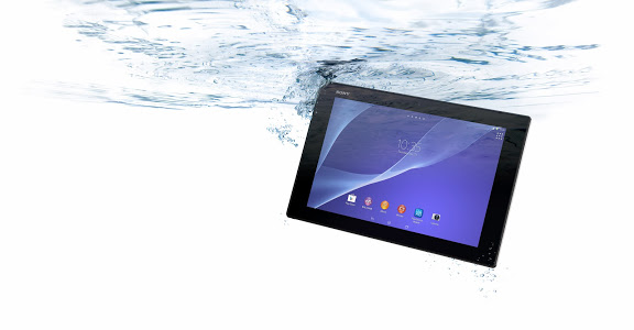 sony xperia z2 tablet underwater