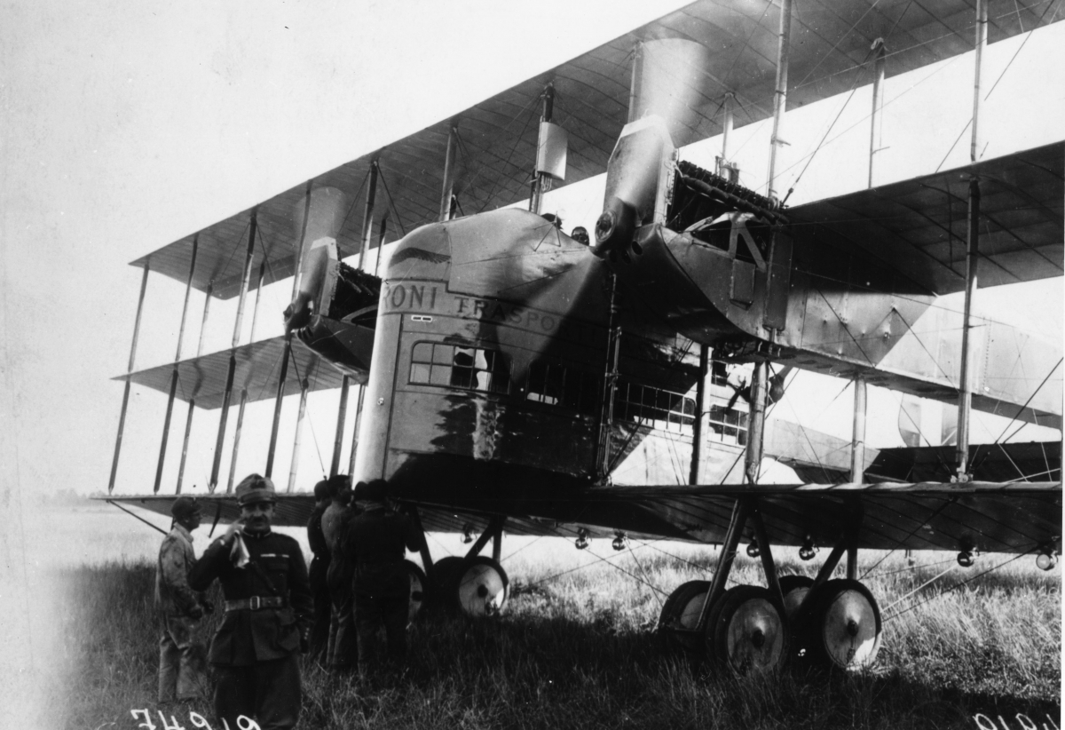 Caproni Ca.5 - Hayao Miyazaki featured the airliner version, which was converted from surplus Ca.44 heavy bombers