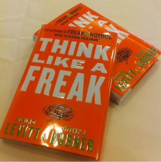Freakonomics co-authors Steven Levitt and Stephen Dubner's new book Think Like a Freak