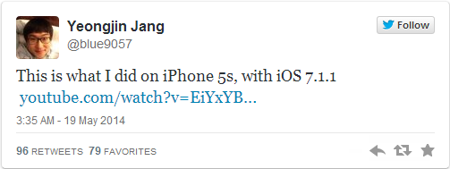 Hackers from GTISC Jailbreak iPhone 5s on iOS 7.1.1, Following Jailbreaks from Winocm and i0ni1c