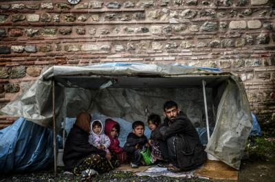 Syrian refugees children istanbul Turkey