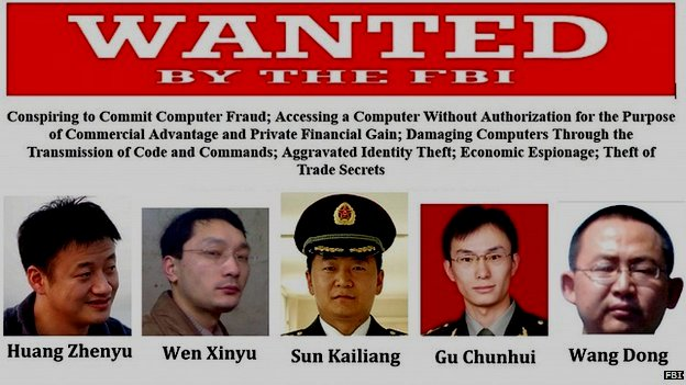 Chinese Spies Accused of Stealing US Trade Secrets
