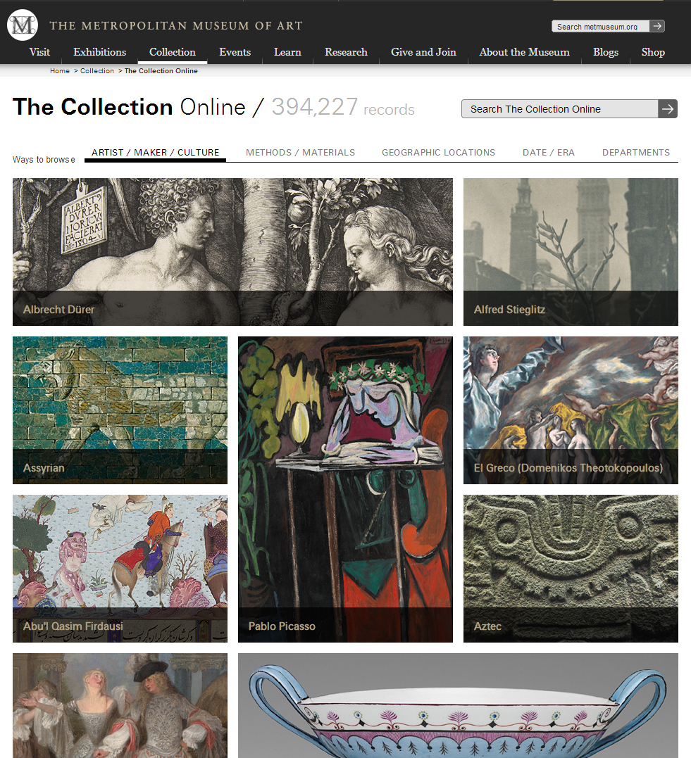 The Metropolitan Collection Online