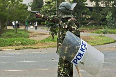 police gun