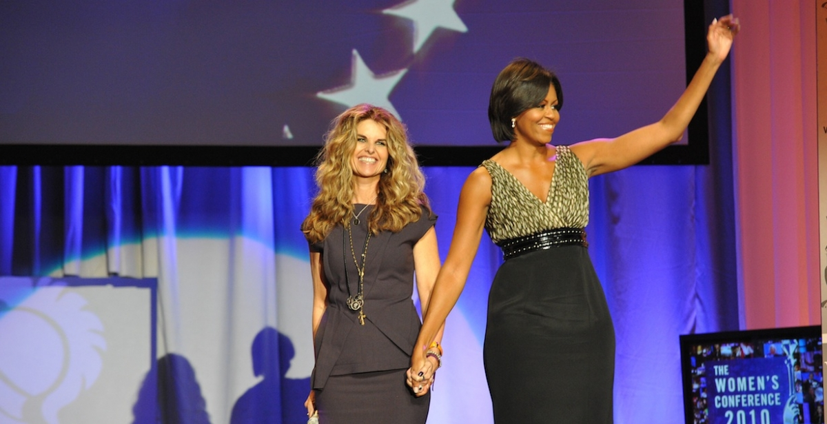Maria Shriver, author of six books, and former first lady of California as wife of California Governor Arnold Schwarzenegger