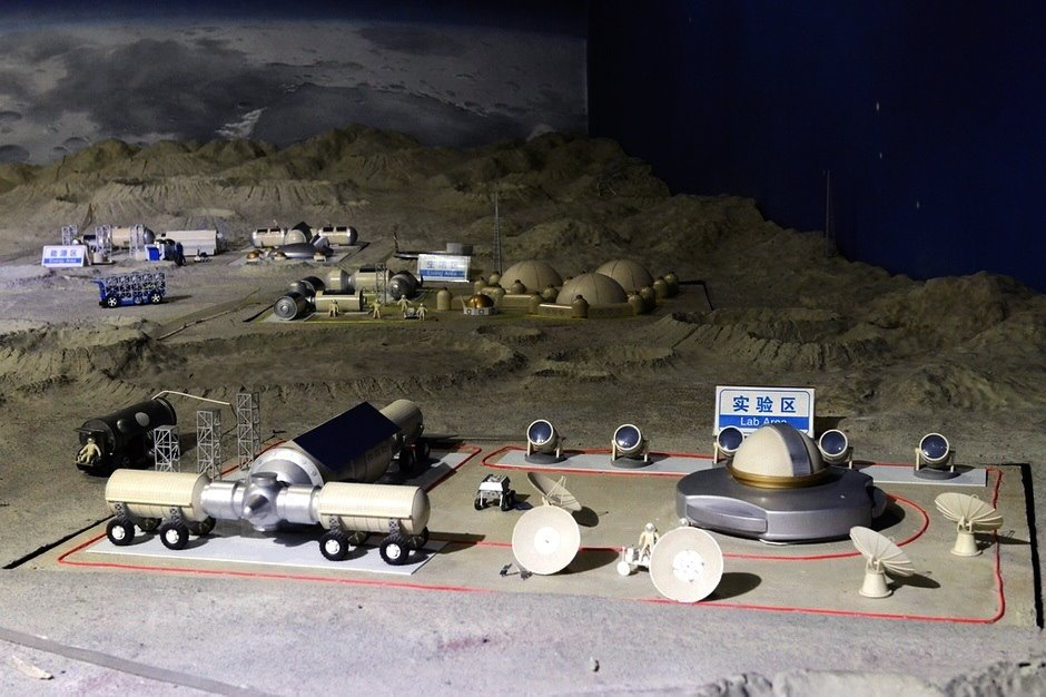 China's first planned moon base, Yuegong-1 (Moon Palace-1)