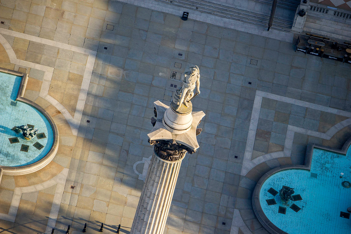 Nelsons Column in Trafalgar Square