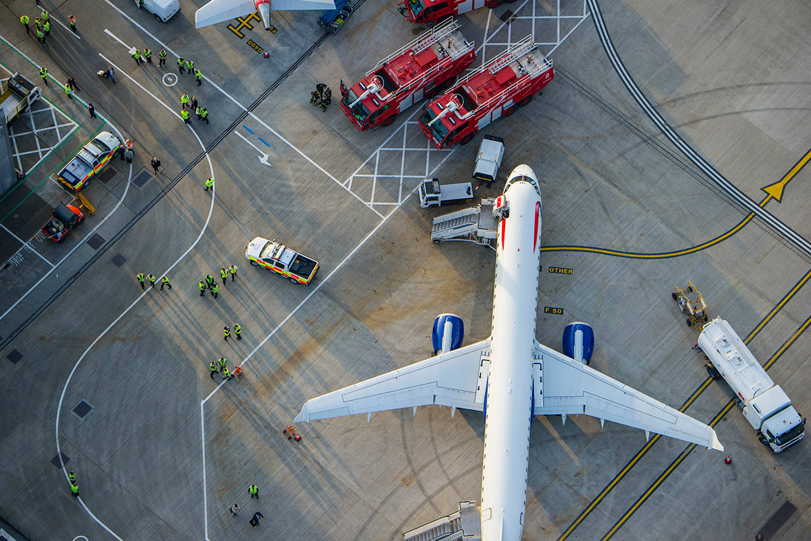 British Airways plane at City Airport