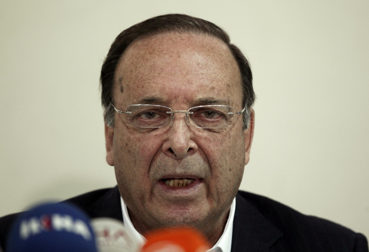 Soma Holding Chairman Alp Gurkan talks during a news conference in Soma