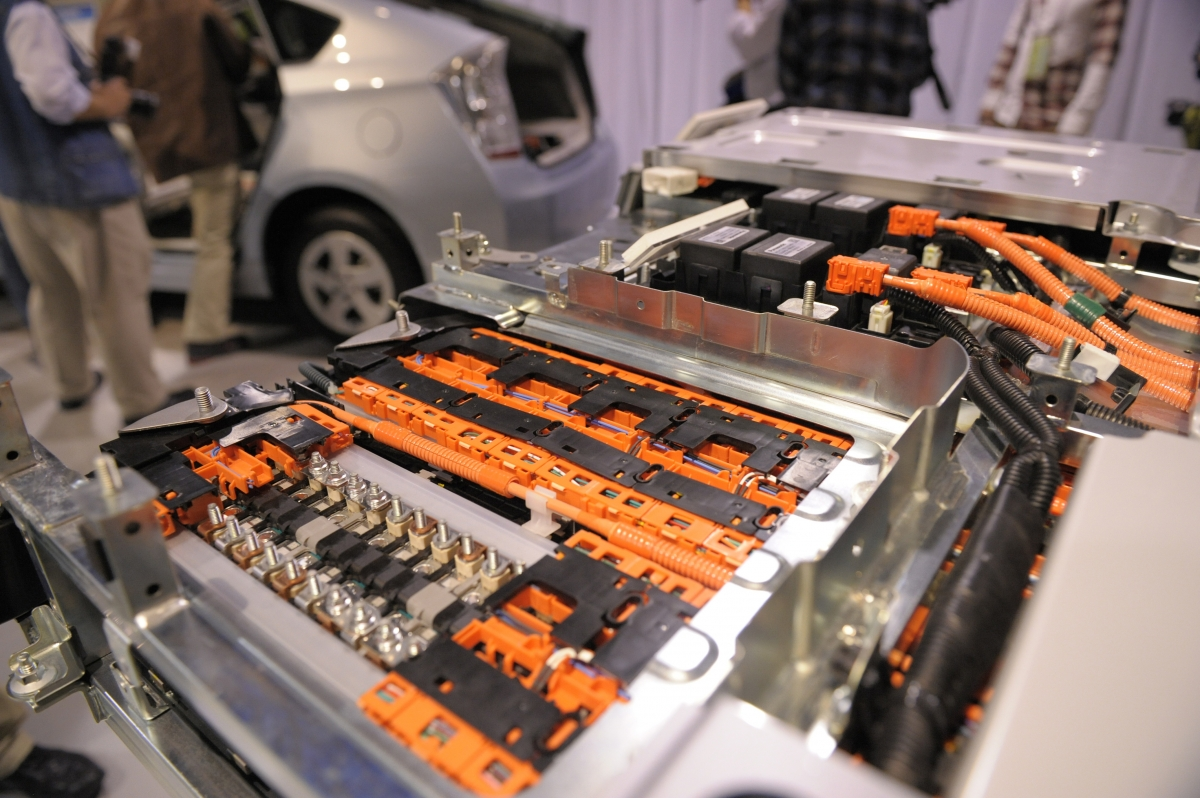 A lithium ion battery installed in a Toyota Prius electrical car
